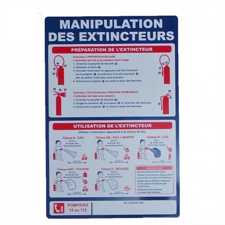 Manipulation des extincteurs